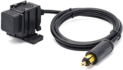 Dual USB Ladeger/ät 5 V 2,1 A mit DIN Hella Buchse Stecker 1,8 m Kabel