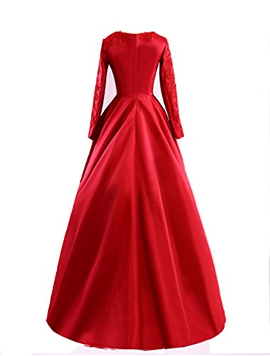 emmani Kleid Kleid Abend Party Damen Trägerlos Rot Kleid Lange rPxrTq