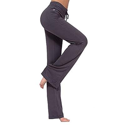 Primavera Verano Elegantes Moda Pantalones Elasticos Mujer Mujer con Cordón Cintura Alta Slim Fit Modernas Casual Deportiva Fitness Pantalones Deporte Pantalones Pantalones Yoga Mujer Cómodo Largos: Ropa y accesorios