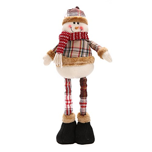 Christmas Gift Santa Claus Snowman Reindeer Doll navidad Christmas Decorations for Home Xmas Tree Hanging Ornaments Pendant Gift (Snowman) (Figure Caroler Tall)