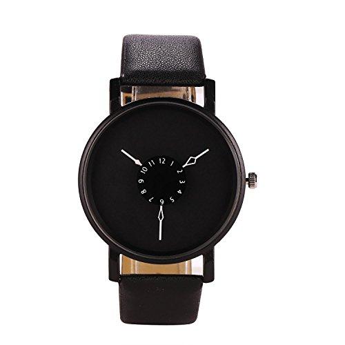 Quartz Design - Corgy Fashion Men Women Simple Design Artificial Leather Band Quartz Wrist Watch Wrist Watches