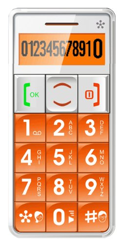 JUST5 J509 Easy to Use Unlocked Cell Phone with Big Buttons, Amplified Sound, Personal Emergency Response System (Orange)