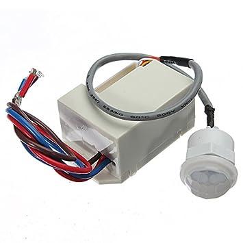 MASUNN 220V Mini Pir Sensor De Movimiento Detector De 12V Dc Temporizador Relé Relay Caravana Automotriz Alarma: Amazon.es: Hogar