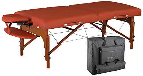 Master Massage Santana Memory Foam Portable Massage Table Package, Mountain Red, 31 Inch by Master Massage
