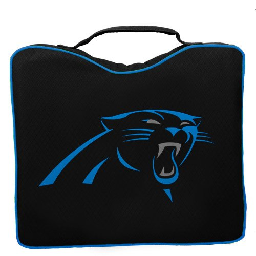 NFL Lightweight Stadium Bleacher Seat Cushion with Carrying Strap, Carolina Panthers Carolina Stadium Seat