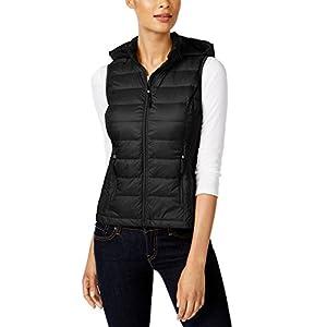 32 DEGREES Women Vest W/Detachable Hood -Black-S