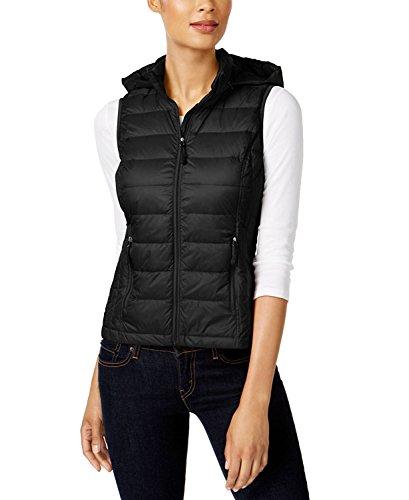 Fill Power Down Vest (32 DEGREES Women Vest W/Detachable Hood -Black-M)