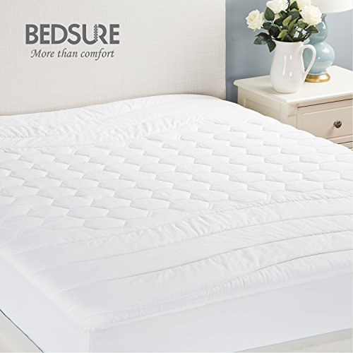 Mattress Pad Queen Hypoallergenic Overfilled Quilted Breathable Soft Microplush By Bedsure