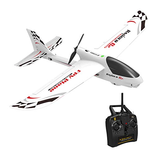 RC Airplane with Safe Technology, 2.4Ghz 4-Channels RTF RC Airplane, Remote Control Glider Aircraft Built in 720P Video Head, with 6-Axis Gyro Easy to Fly for Beginners and Kids Gift (White) from Fangoog Toy