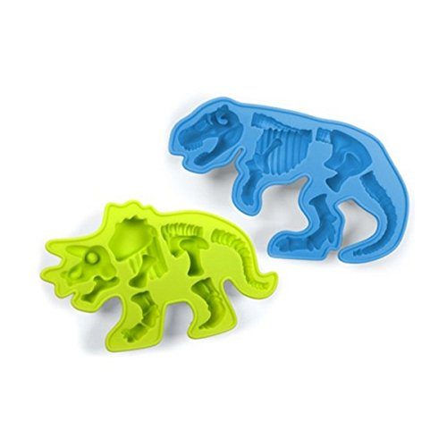 Silicone Dinosaur Bones Chocolate Molds - Triceratops and T-Rex - Instructions Included -