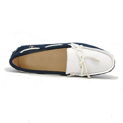 Minitoo - Ballet mujer azul y blanco