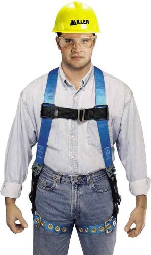Miller by Honeywell P950D-4/UBL Duraflex Python Full-Body Ultra Harness with Mating Buckle Chest Strap, Universal, Blue