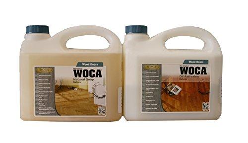 Woca Maintenance Sets 2.5 Liters (Natural 2.5 liters Sets) by Woca Denmark (Image #3)