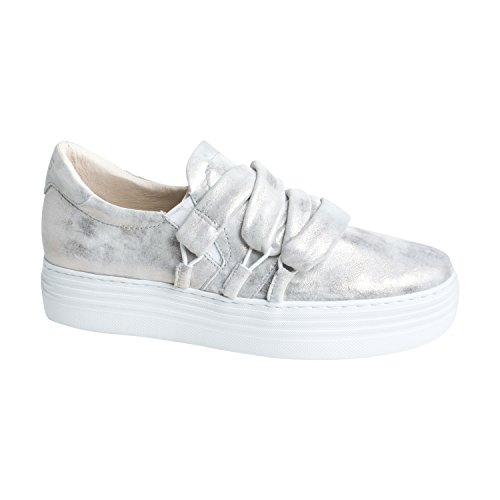 Mjus Womens Sneaker Valley - Dalle Belle Scarpe Da Donna Per Il Tempo Libero In Argento