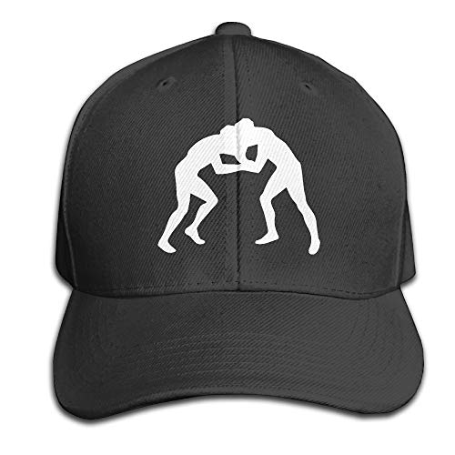 Y94OIW@MAO Everyday Peaked Cap for Unisex, Wrestling Clipart Cotton Snapback Cap by Y94OIW@MAO