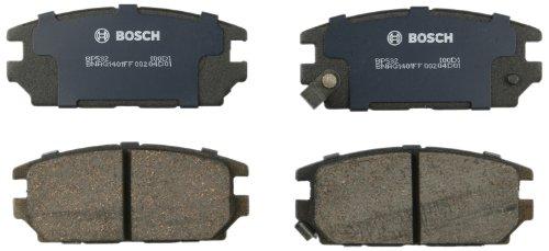 Bosch BP532 QuietCast Premium Semi-Metallic Disc Brake Pad Set For Dodge: 1991-1994 Stealth; Eagle: 1995 Talon; Mitsubishi: 1991-1993 3000GT, 2006-2012 Eclipse, 2007-2009 Galant; -