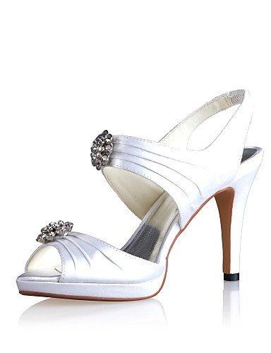 ShangYi Schuh Damen - Hochzeitsschuhe - Fersenriemen - Sandalen - Hochzeit - Blau / Rot / Elfenbein / Weiß Red
