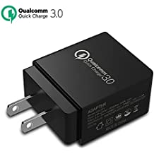 Wall Charger TAKAGI Quick Charge 3.0 (Quick Charge 2.0 Compatible) USB Fast Charging Station Travel Power Adapter for Samsung Galaxy S7/S6/Note 8, iPhone X/8/7/Plus, Huawei Mate 10, iPad and More