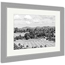 Ashley Framed Prints Sky Beautiful Golf Courses In Rayong Thailand, Contemporary Decoration, Black/White, 26x30 (frame size), Silver Frame, AG5856172