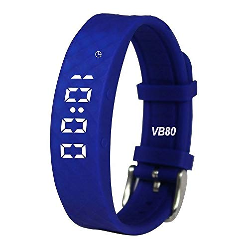 eSeasongear VB80 8 Vibrating Alarm Watch, Silent Vibration Shake Wake Kids ADHD Potty Medication Reminder (Blue)