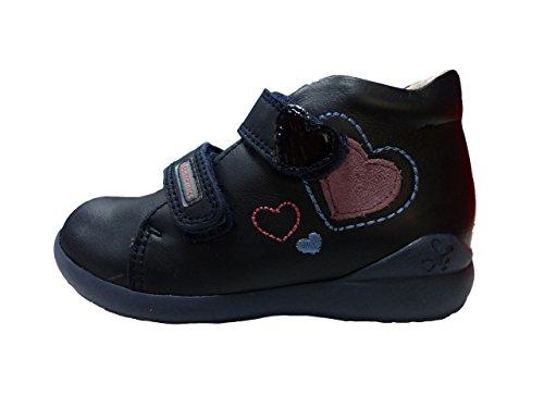 Biomecanics Mädchen 171156 Plissierte Stiefel Blau (Marineblau / Wildleder)