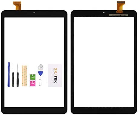 SRJTEK for Samsung Galaxy Tab A 8.0 T387 SM-T387T T387A T387V Touch Screen Replacement Kit,(Not LCD, NO Instructions) Touch Digitizer,Glass Repair Parts (Black)
