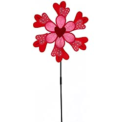 Evergreen Valentine Petal Spinner, 36 inches