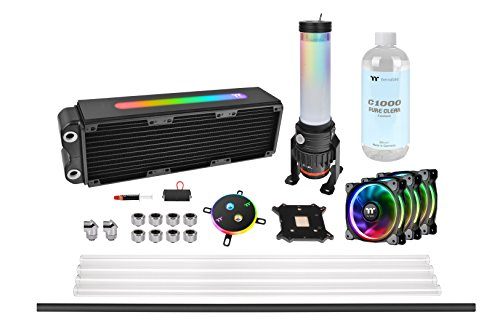 Thermaltake Pacific M360 Plus D5 Res/Pump PETG Hard Tube Water Cooling Kit CL-W218-CU00SW-A (Best Water Cooling Setup)