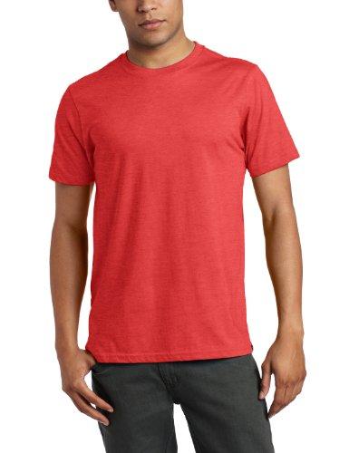 Hurley Men's Staple Short Sleeve Premium Crew Neck T-Shirt, Heather Redline, Small