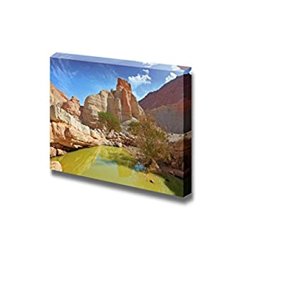 Beautiful Landscape Scenery of Canyon in Ancient Mountains at The Dead Sea - Canvas Art Wall Art - 32