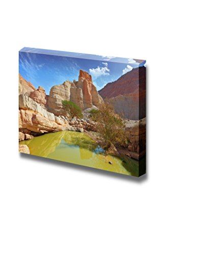Beautiful Landscape Scenery of Canyon in Ancient Mountains at the Dead Sea Wall Decor ation