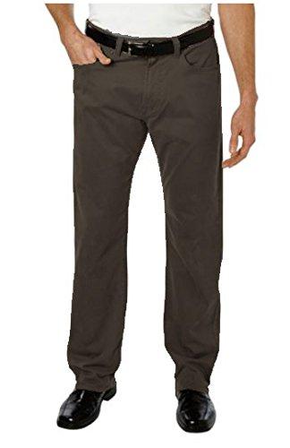 KIRKLAND SIGNATURE MEN'S 5 POCKET BRUSHED COTTON KHAKI PANT STANDARD STRAIGHT (34X32, (Standard Mens 5 Pocket Jean)