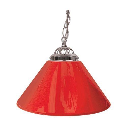 Trademark Gameroom Red Single Shade Gameroom Lamp, 14 (Silver Hardware) by Trademark Gameroom