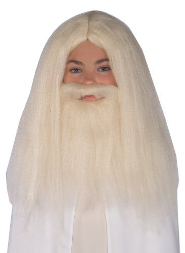 Gandalf Beard And Wig Set (Gandalf Beard & Hair Wig Set Lord of the Ring Collection)