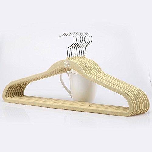 U-emember The Large Versatile Black Anti-Slip, Non-Marking The Wardrobe Hanging Clothes Holding A 10-B) Linen ()