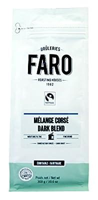 Faro Roasting House Dark Blend Filter Grind Coffee 10oz, Dark Roast Organic and Fair Trade 100% Arabica Coffee With Rich Character - Fresh Ground Coffee (10 Ounce Bag)