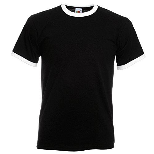 Fruit The Of Blanc Noir Ringer Loom Couleurs T shirt vers qrqP5px