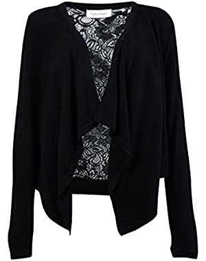 Calvin Klein Women's Lace Backed Sweater