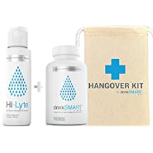 Hangover Recovery Kit with Gift Bag | Developed by Harvard Researcher | Vitamin & Herbal Supplement + Electrolytes | 100% Money Back Guarantee