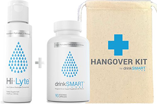 Cheap Hangover Recovery Kit with Gift Bag | Developed by Harvard Researcher | Vitamin & Herbal Supplement + Electrolytes | 100% Money Back Guarantee