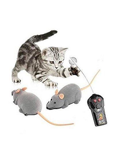 CP-nine Electronic Wireless Remote Control Mouse Rat Animal Toys Pet Cat Toys Mouse Black Brown Grey