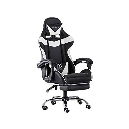 Sillas Gaming E-Sports Silla de la computadora Silla Moderna casa de elevacion Simple Silla giratoria (Color : Whi