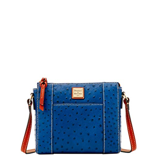 Dooney & Bourke Ostrich Lexington Crossbody Bag, Marine Blue (Dooney Bourke Lexington)