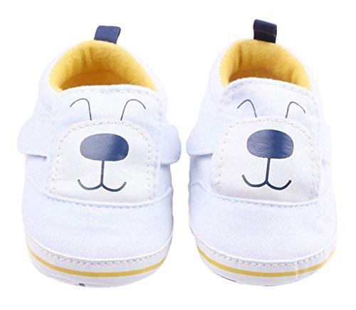 La Vogue Zapatos Bebe Infantil Patrón Perro Primeros Pasos Blanco Talla 13cm