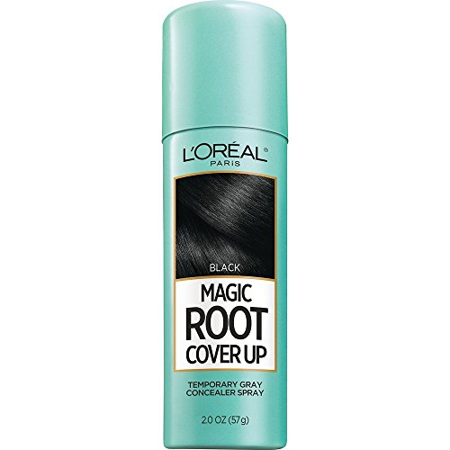 (L'Oreal Paris Magic Root Cover Up Gray Concealer Spray Black 2 oz.(Packaging May)