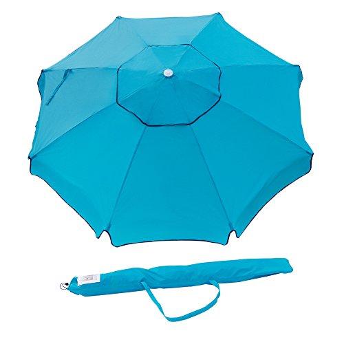 Abba Patio 7 Feet Beach Umbrella with Sand Anchor, Push Butt