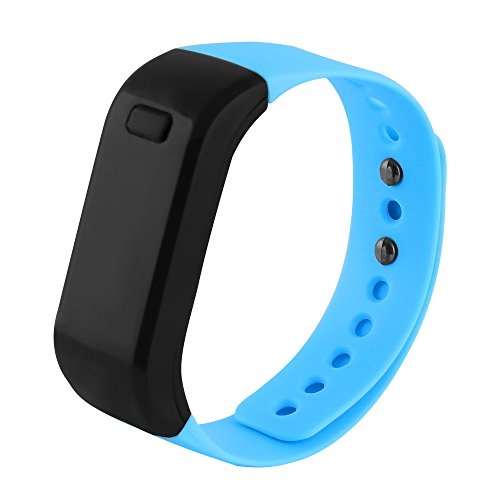 Santopian Waterproof Fitness and Health Tracker, Exercise Function, Calories Record,Blue by Santopian