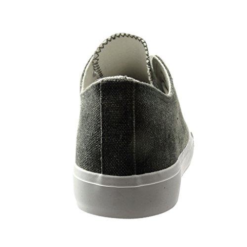 Scarpe Tacco Low Moda Intrecciato Piatto Donna 0 Sneaker Nero Angkorly Cm AwHUdqFU
