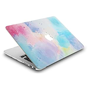 "KEC MacBook Pro 13"" Retina Case (2015) Cover Plastic Hard Shell Rubberized A1502 / A1425 (Rainbow Mist 2)"