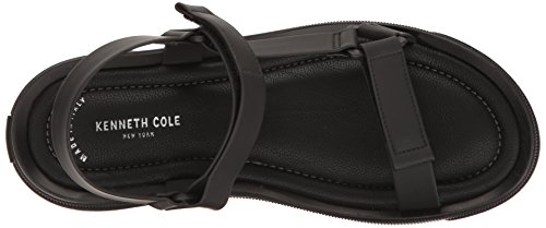 Kenneth Cole New York Heren Gesp-n Platte Sandaal Zwart